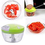 Механический измельчитель продуктов и овощей Easy Spin Cutter / Кухонный ручной измельчитель, фото 6