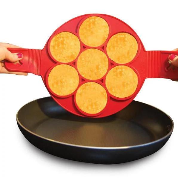Силіконова форма для оладок, млинців, яєць Flippin' fantastic формочки