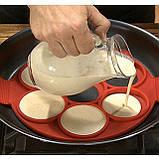 Силіконова форма для оладок, млинців, яєць Flippin' fantastic формочки, фото 7