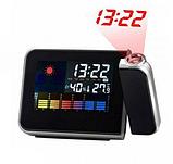 Годинник метеостанція з проектором часу на стіну Color Screen 8190 календар, фото 2