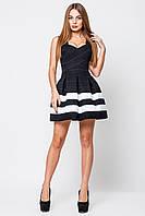Платье женское Грация черный/белый(2 полоски)