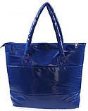 Стильная Стеганная глянцевая дутая сумка, фото 6