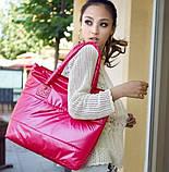Стильная Стеганная глянцевая дутая сумка, фото 7