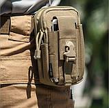 Сумка подсумок на пояс ремень штурмовая тактическая Mini warrior, фото 9