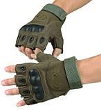 Рукавички без пальців штурмові тактичні Oakley, фото 2