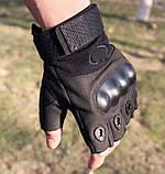 Рукавички без пальців штурмові тактичні Oakley, фото 7