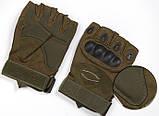 Перчатки без пальцев  штурмовые тактические Oakley, фото 10