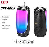 Колонка со светомузыкой, USB, SD, FM, Bluetooth, 1-динамиком и антенной 18см*8.5см MF-206, фото 3