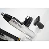 Мужской триммер гигиенический Rozia HD 102 2в1 - Серебристый / Мини-эпилятор / Мужской станок - эпилятор, фото 4
