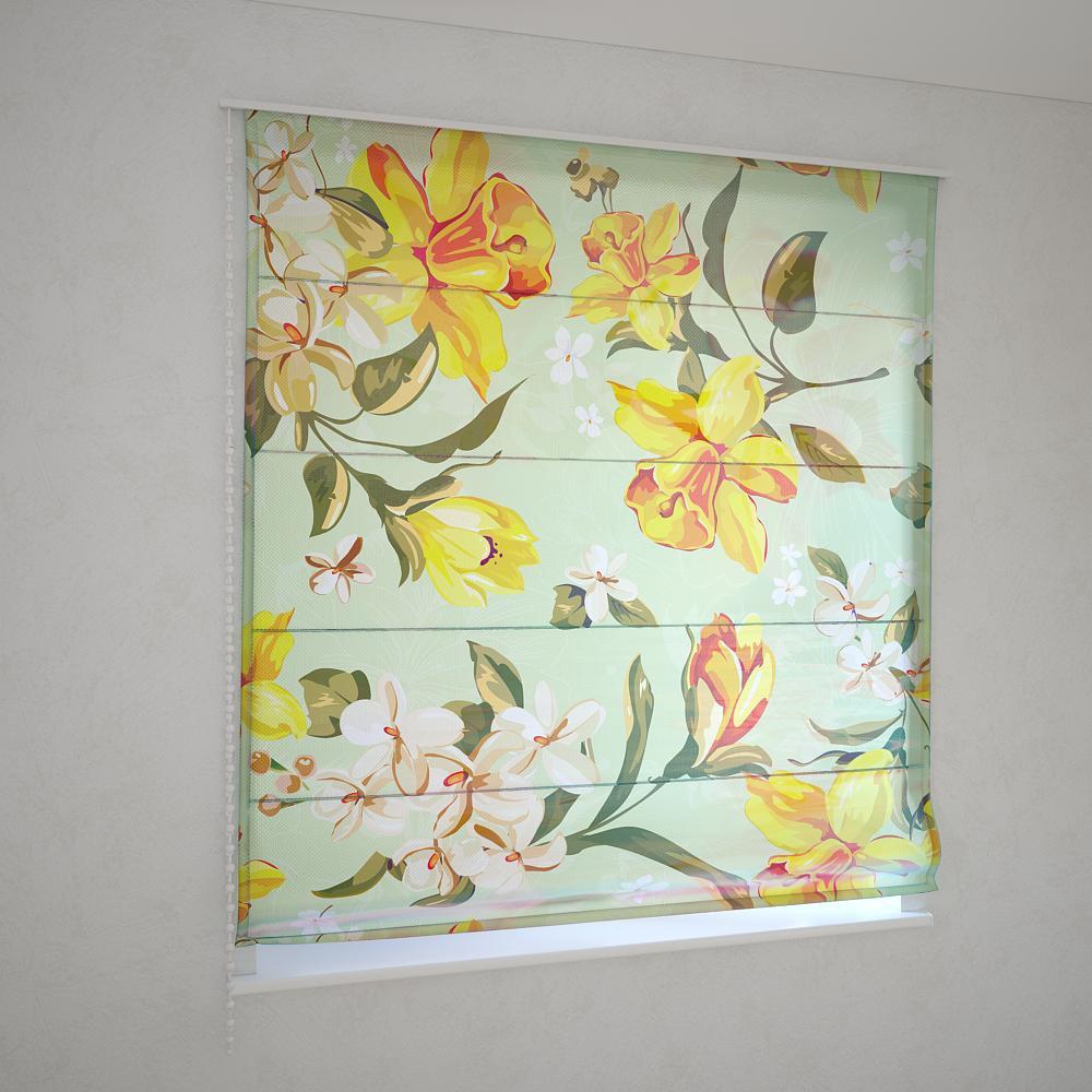 Римські штори ретро квіти