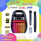 Бездротова колонка Bluetooth Golon RX-810BT, портативна колонка з мікрофонним виходом, USB, карта пам'яті, фото 2