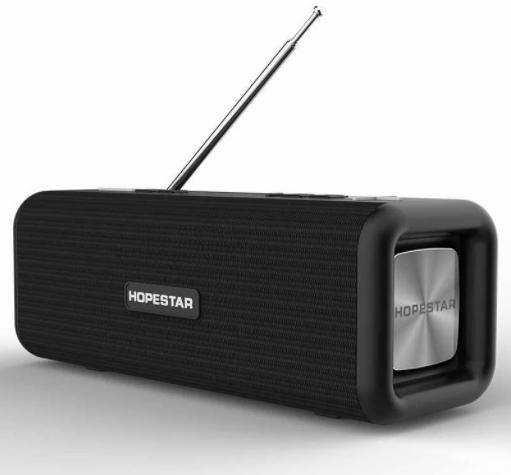 Портативна колонка Bluetooth HOPESTAR T9 вологостійка тканинна / Потужна блютуз колонка / Акустична система