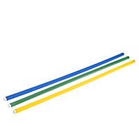 Палка гимнастическая пластиковая, l=1,1 м d-2,5см