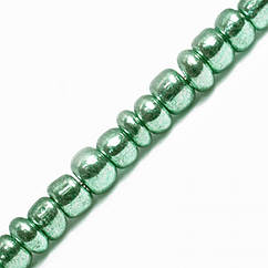 Бисер Китайский 12/0, Металлический (MC), Цвет: Зеленый 1114, Круглый, 100 г