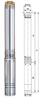 Насос скважинный центробежный Aquatica 3SDm1.8/10 ( 0,25 кВт., 45 л/мин)