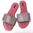 Велюровые тапочки со стразами в мешочке  Victoria's Secret Embellished Velvet Slides р.S (36-37), фото 3