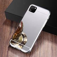 Чехол Fiji Mirror для Huawei Y5p силикон зеркальный бампер металлик