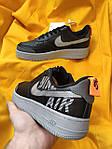 Мужские кроссовки Nike Air Force 1 Low '07 LV8 Utility (черно-серые) стильная обувь D114, фото 3