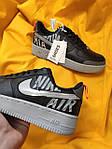 Мужские кроссовки Nike Air Force 1 Low '07 LV8 Utility (черно-серые) стильная обувь D114, фото 2