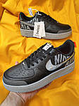 Мужские кроссовки Nike Air Force 1 Low '07 LV8 Utility (черно-серые) стильная обувь D114, фото 7