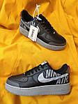 Мужские кроссовки Nike Air Force 1 Low '07 LV8 Utility (черно-серые) стильная обувь D114, фото 4