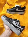 Мужские кроссовки Nike Air Force 1 Low '07 LV8 Utility (черно-серые) стильная обувь D114, фото 6