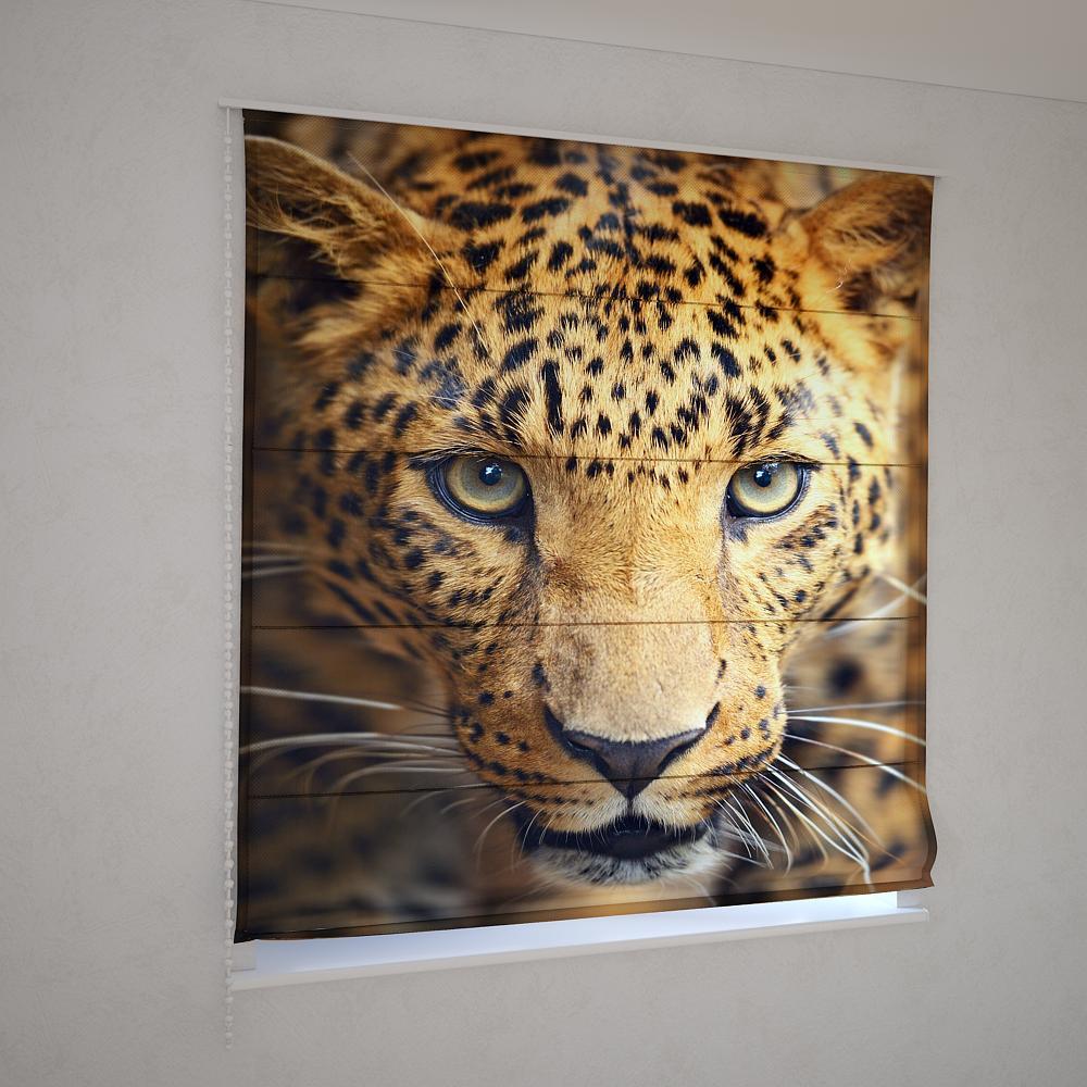 Римські штори 3д леопард