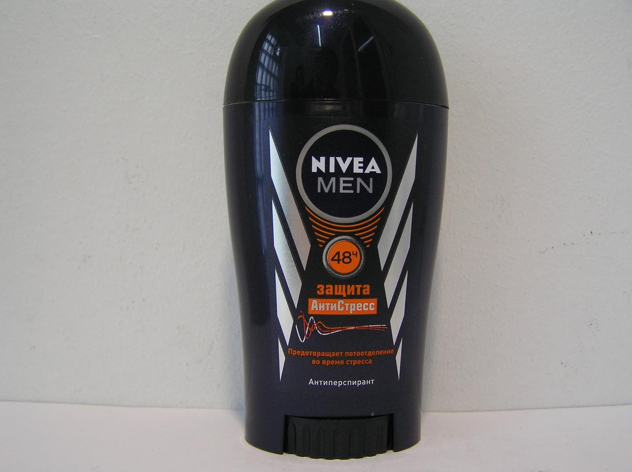 Tвердый мужской дезодорант антиперспирант Nivea Защита Антистресс 40 мл.