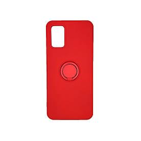 Захисний бампер для Samsung A02S A025 силіконовий з кільцем, Червоний
