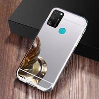 Чехол Fiji Mirror для Samsung Galaxy M30s (M307) силикон зеркальный бампер металлик