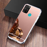 Чехол Fiji Mirror для Samsung Galaxy M30s (M307) силикон зеркальный бампер розовое золото
