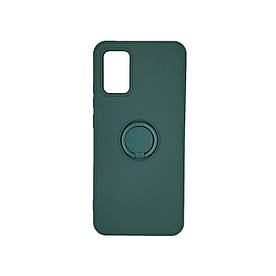 Захисний бампер для Samsung A02S A025 силіконовий з кільцем, Зелений