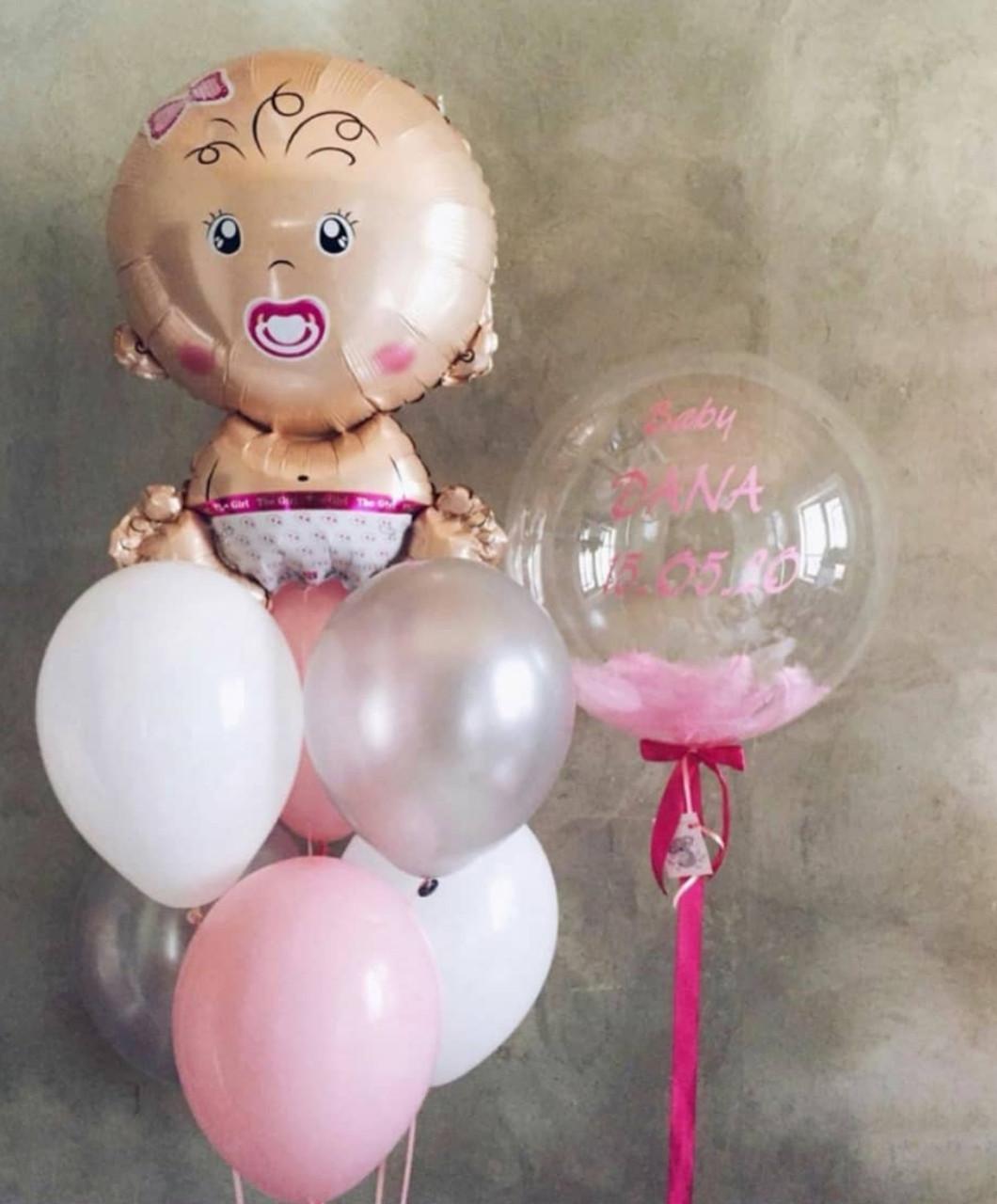 Кульки на виписку для дівчинки