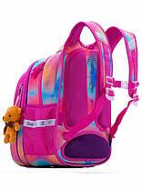 Рюкзак шкільний в 1-4 клас для дівчинки ортопедичний з 3D малюнком Ведмедик SkyName R1-011, фото 3