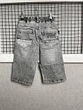 Джинсовые шорты на резинке для мальчика 146-170 см, фото 4