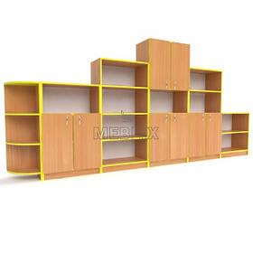 Стенка для детского сада Стандарт. Наборные стенки из шкафов для игрушек в детский садик