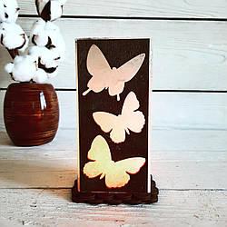 Соляная лампа Бабочки 1-2 кг (8*17*6 см)