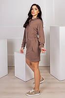 Модное прогулочное платье с капюшоном