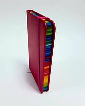 Блокнот на резинке, твёрдый переплёт, 14 см * 9 см, 96 л. в линию, розовый