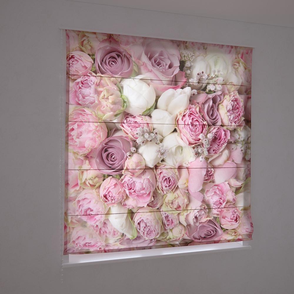 Фотошторы римские нежные розы