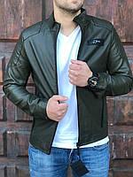Куртка ветровка короткая весенняя цвет хаки мужская