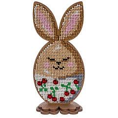 """Набор для Вышивания Бисером по Дереву """"Кролик"""", 6.5х14см, Фанерная Основа с Перфорацией, Бисер 7 Цветов,"""