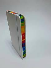 Блокнот на резинці, тверда обкладинка, 14 см * 9 см, 96 л. в лінію, білий