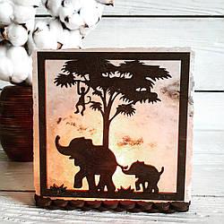 Соляная лампа Африка 3-4 кг, (16*16*6 см)