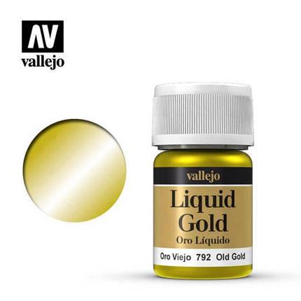 Vallejo Liquid Old Gold, фото 2