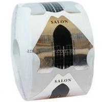 Формы Salon Professional для наращивания ногтей, серебряные 500 шт