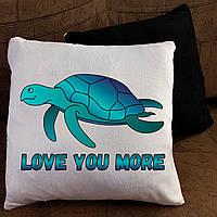 Подушка с принтом - Love you more
