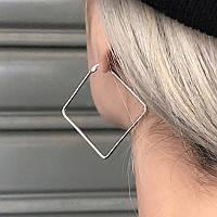 Стильні квадратні сережки Нимея, фото 1