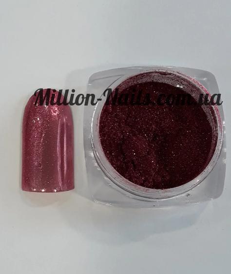 Новинка! Втирка для дизайну нігтів з микроблестками(рожевий)