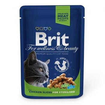 Влажный корм Brit Premium Cat курица для стерилизованных, 100 г